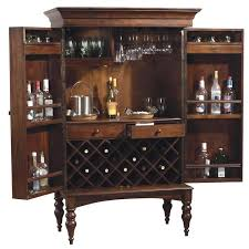 Open Bar Cabinet Howard Miller Cherry Hill Home Bar Wine And Liquor Cabinet Home