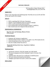 Sales And Marketing Resume Marketing Resume Sample