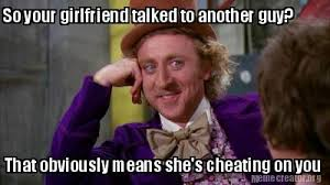 Girlfriend Cheating Meme - meme creator so your girlfriend talked to another guy that