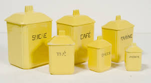 yellow kitchen canisters home design