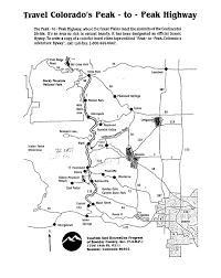 Colorado Highway Map by Hiking In Colorado Index Page