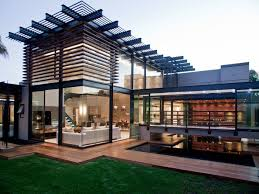 awesome black glass wood simple design modern exterior house
