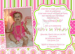 Invitation Cards For Birthday Charming 1st Birthday Invitation Card Wordings 52 For Invitation
