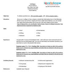fill in the blank resume template free blank resume form lovetoknow