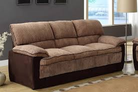 Corduroy Sectional Sofa Homelegance Mccollum Sofa Brown Corduroy And Microfiber 9746 3