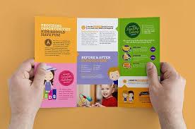 tri fold school brochure template after school care template pack brochure templates on free