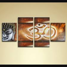 pieces feng shui zen art contemporary painting buddha oil on canvas
