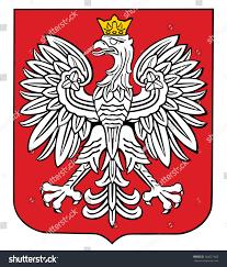 poland coat arms seal national emblem stock vector 264521600