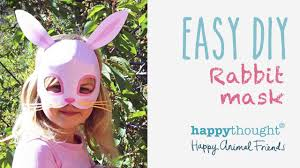 be a bunny in 5 minutes try our easy bunny mask template