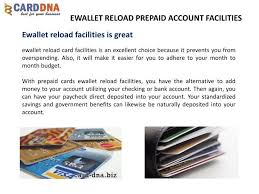 reload prepaid card with checking account ppt ewallet reload prepaid account facilities powerpoint