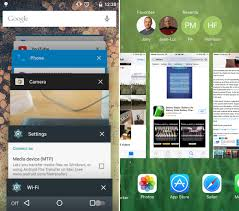 android multitasking android 5 0 lollipop vs ios 8 ui comparison vote for the better