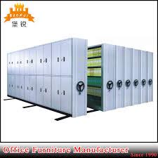 china movable mass dense shelf commercial compact mobile shelving