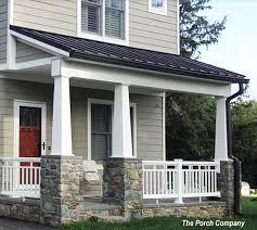 craftsman design homes vinyl porch railing ideas for porches and decks porch railings
