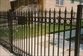 exterior simple wrought iron fence design suitable to embellishing