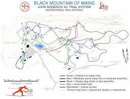 Map Maine Nordic Skiing Map Black Mountain Of Maine Rumford Maine