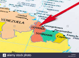 Maps Of South America by Red Arrow Pointing Guyana On The Map Of South America Continent