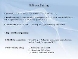 bilinear map wireless area networking