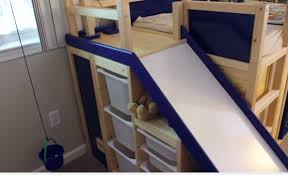 Diy Bunk Bed With Slide by Ikea Hack Bed Slide Secret Room Diy