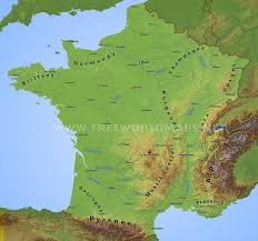 Marseilles France Map by France Physical Map