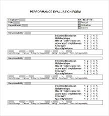 employee evaluation form uses employee performance evaluation