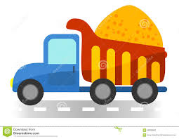 dump truck cartoon stock vector image 54489743