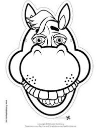 horse mask templates including coloring version mask