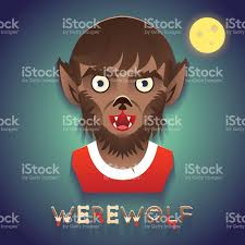 background halloween images werewolf avatar role character bust icon halloween party stylish