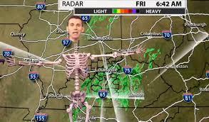 spirit halloween louisville ky louisville weatherman jude redfield gives forecast as a skeleton