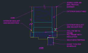 Exterior Door With Frame Exterior Door Frame Jamb Detail Cad Files Dwg Files Plans And