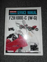 yamaha motorcycle fzr1000 c w g service shop repair manual oem