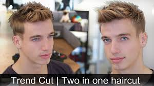 men u0027s trendy hair tutorial 2 hairstyles in 1 haircut by vilain