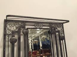 french art deco wrought iron and marble hall tree coat rack u2013 1 of