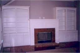 custom made wallunit with bookcases and fireplace mantel r by rj