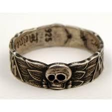 ss wedding ring reproduction ss wedding ring with skull swatiska runes