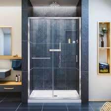 basco vinesse 47 in x 76 in semi framed sliding shower door and