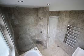 walk in shower family bathroom stone chrome a stunning walk in shower with heated seating