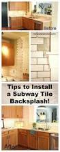 Subway Tile Backsplash Kitchen by How To Install A Kitchen Backsplash The Best And Easiest