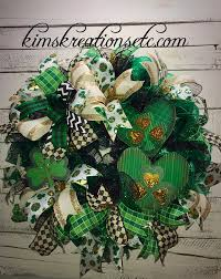 decorative wreaths for the home st patrick s day wreath front door wreath for st patrick s day