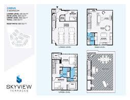 floorplans skyview terraces u2013 kelowna bc townhomes