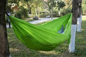 parachute nylon hammock with ropes u0026 carabiners