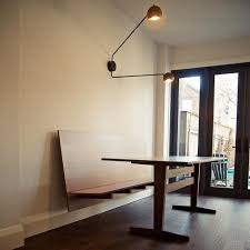 Modern Dining Bench With Back Custom Floating Bench And Dining Table Modern Dining Room