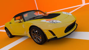 tesla roadster tesla roadster 3d cgtrader