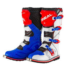 dirt bike trail boots oneal rider mx dirt trail boots red blue white