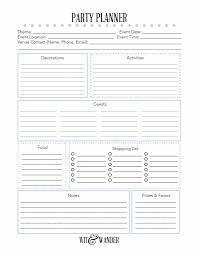 Event Planner Checklist Template Party Planner Checklist Template 11 Free Printable Party Planner
