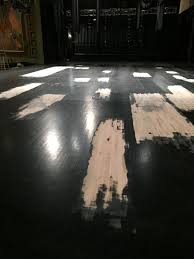 the patching the stage floor