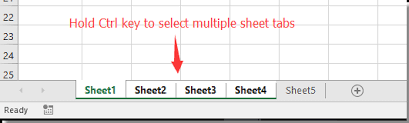 how to select sheets how to synchronously input or select cells across multiple sheets
