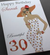 a5 handmade personalised pretty birthday card friend