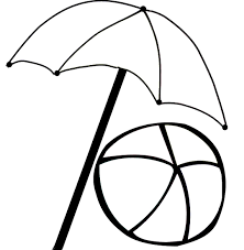 beach umbrella coloring pages ball coloringstar