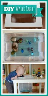 Homemade Play Kitchen Ideas How To Make A Water Table Ikea Table Water Tables And Sensory Play