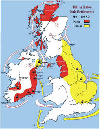 A Map Of England by Ancient England Map Of Viking Settlements And Plundering A